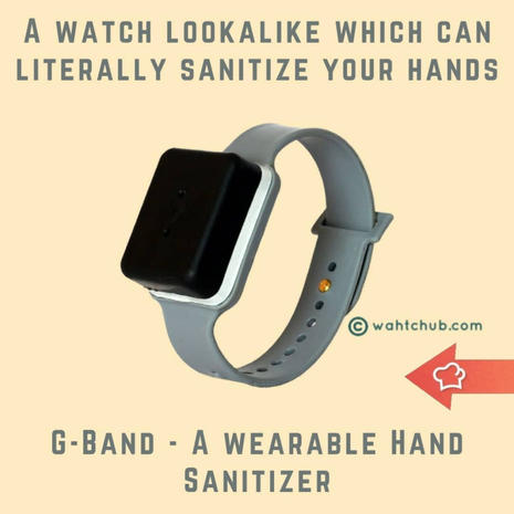 G-Band, Wearable Hand Sanitizer