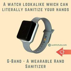 G-Band, Wearable Hand Sanitizer