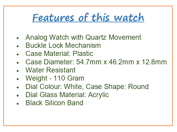 List of features of Fastrack Men's Analog Watch.