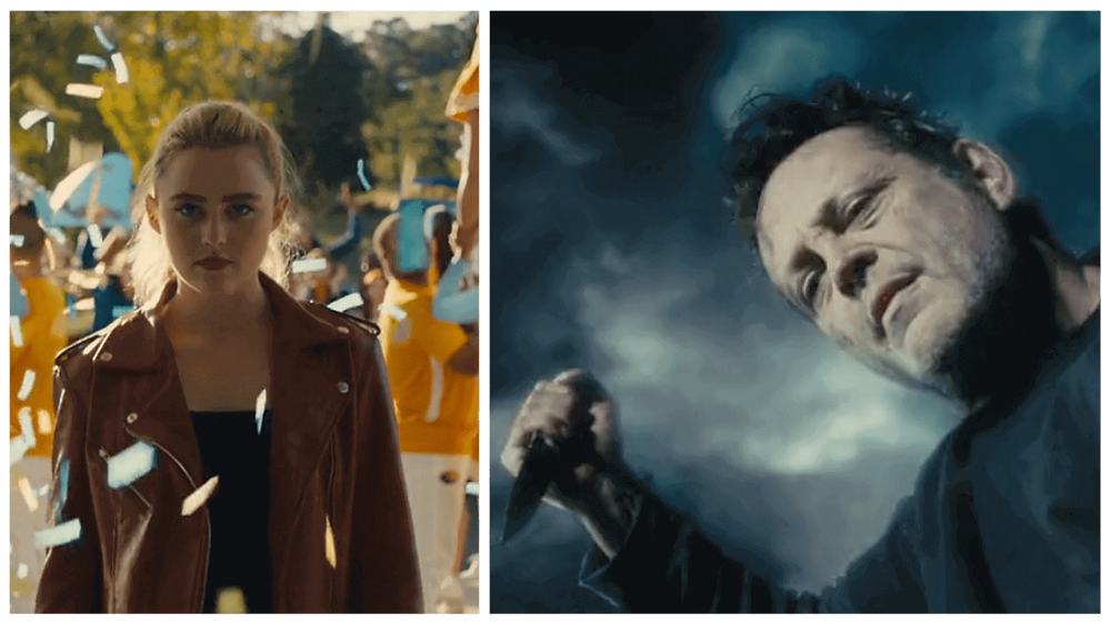 The two titular characters of horror-comedy Freaky (2020) or Freaky Cast 2020 - Kathryn Newton and Vince Vaughn