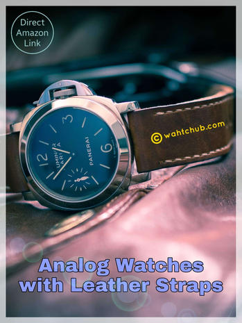 Best Men's Analog Watches with Leather Strap