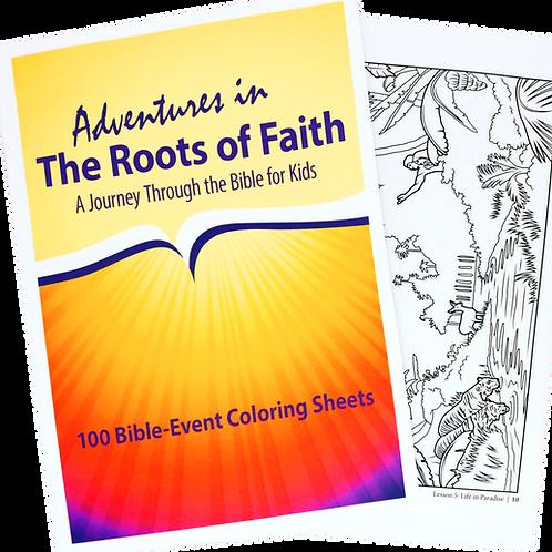 Hojas para colorear - Aventuras en Las Raíces de la Fe