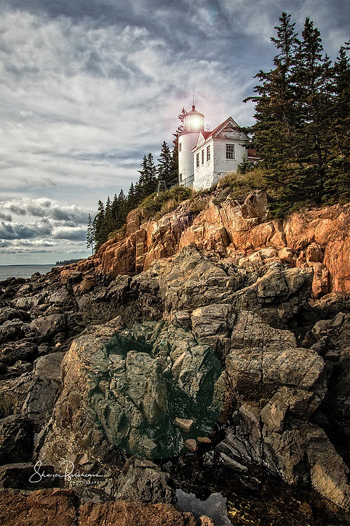 "Bass Harbor Head Lighthouse 18' x 12"" Dry Mount Print"