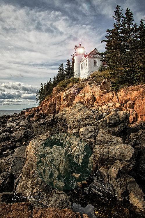 "Bass Harbor Head Lighthouse 24"" x 36"" Metal Print"