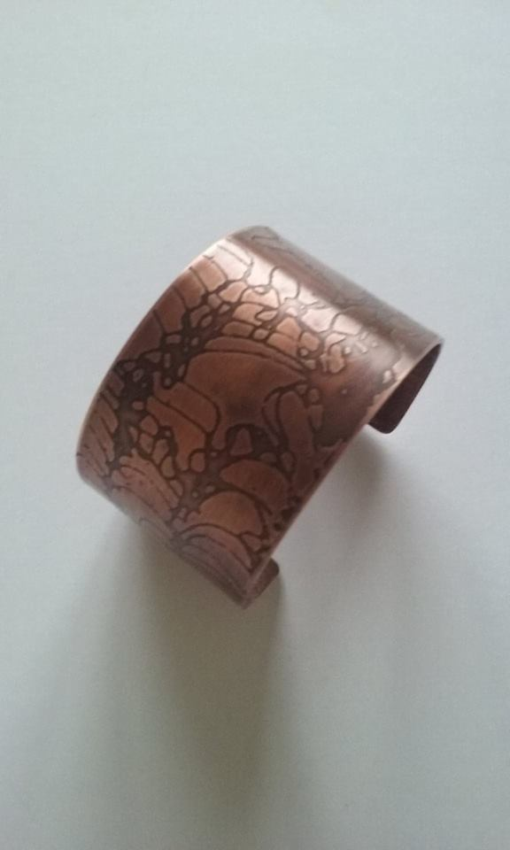 Etched Copper bangle