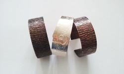 3 Silver  copper bangles