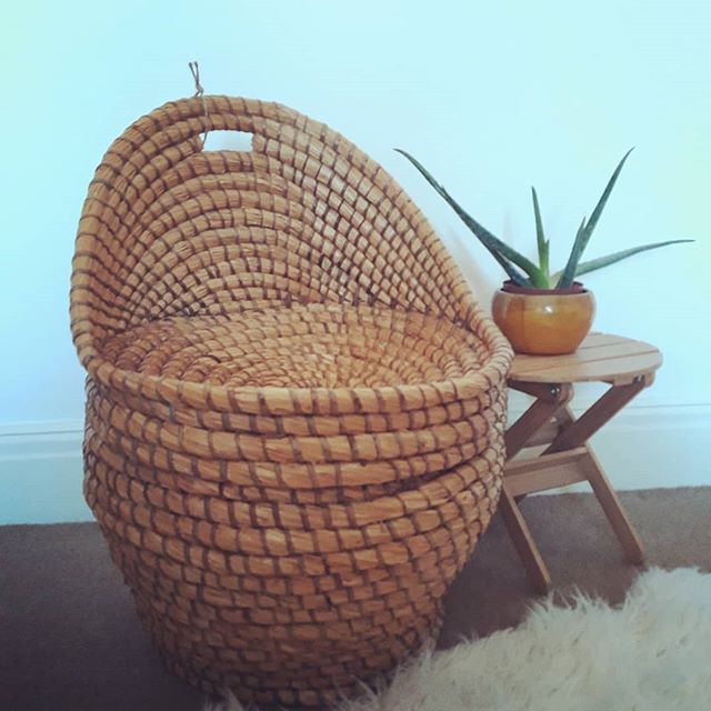 SOLD Vintage wicker child's chair with s