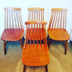 Vintage Ercol style dining chairs_Condit
