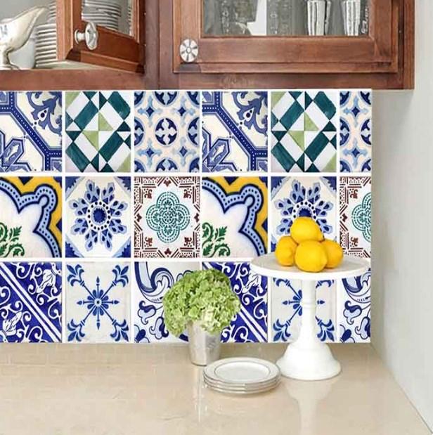 Papel de Parede Azulejo