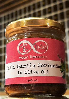 Chili Garlic Coriander in Olive Oil