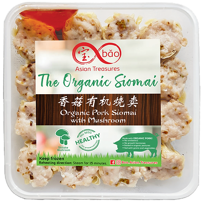 Organic Pork with Mushroom Siomai