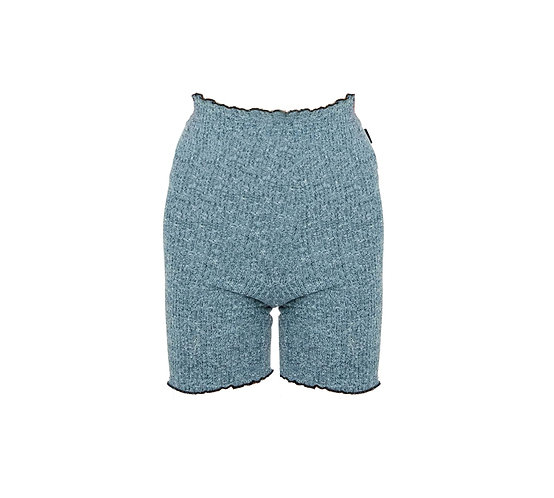 KNIT BIKER PANTS - BLUE