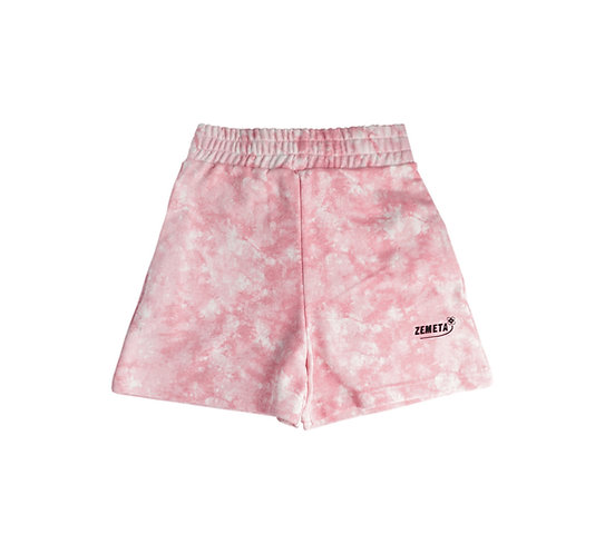 PINK STONE SWEAT SHORTS