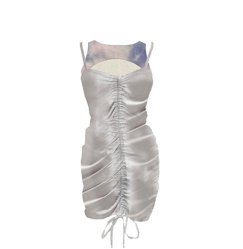 TIE DYE SILKY DRESS - Two Piece