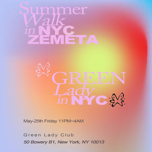 East Village NYC - Party Club Green Lady
