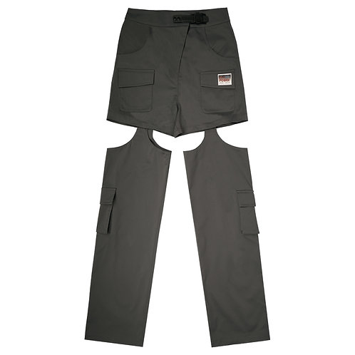 WANGRENNxCHENCLEAN- Hole work pants