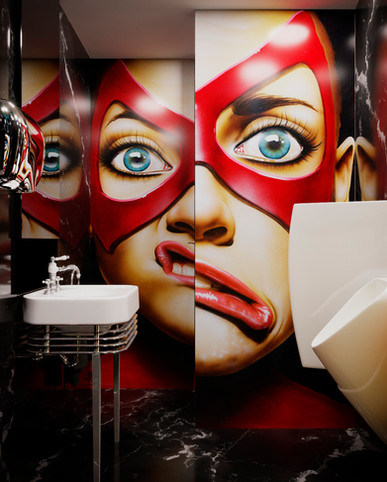 Design of the project of the toilet in the strip club of Mariulol Ukraine