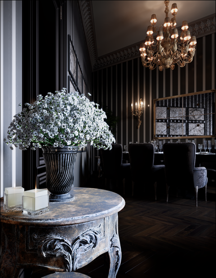 Design of the banquet hall of the restaurant Mariupol Ukraine