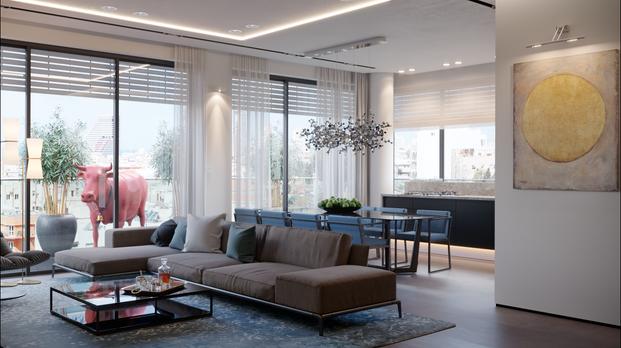 Visualization of the interior for the designer of Tel Aviv Israel