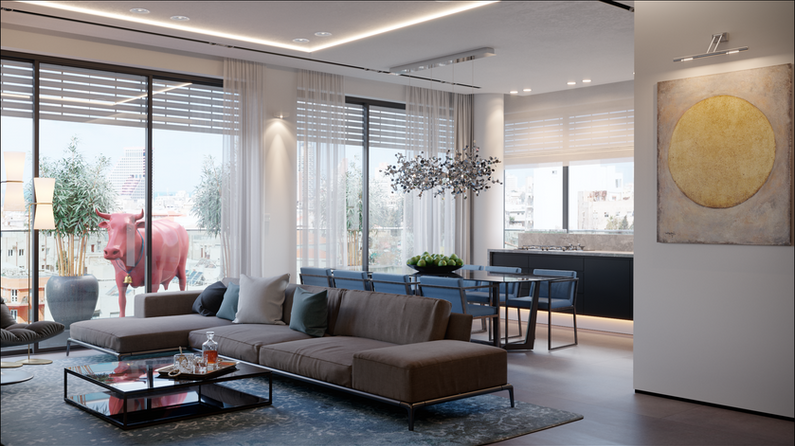 Visualization of the interior for the designer of Tel Aviv Israel