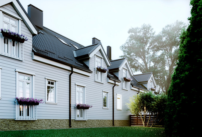 Design of the exterior of the house Vilnius Lithuania