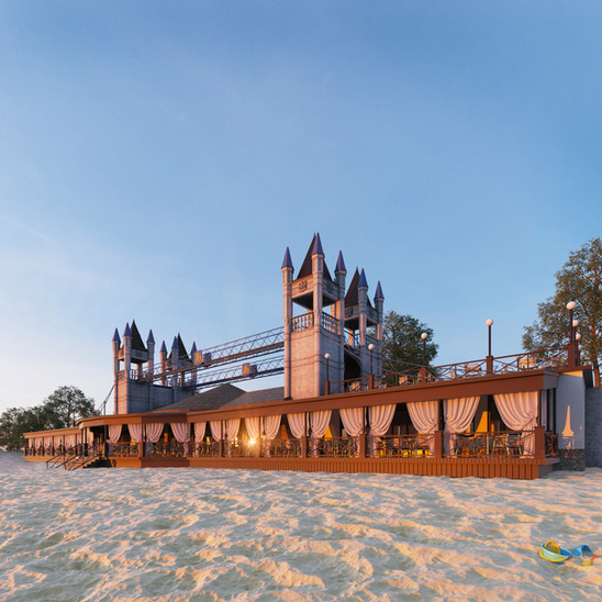 Project cafe on the beach of Berdyansk Ukraine