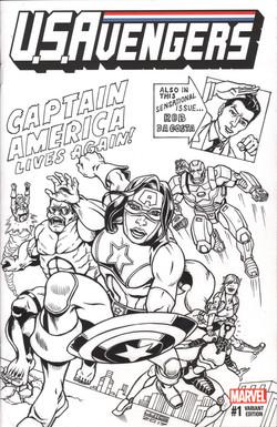 U.S.Avengers Sketch Cover