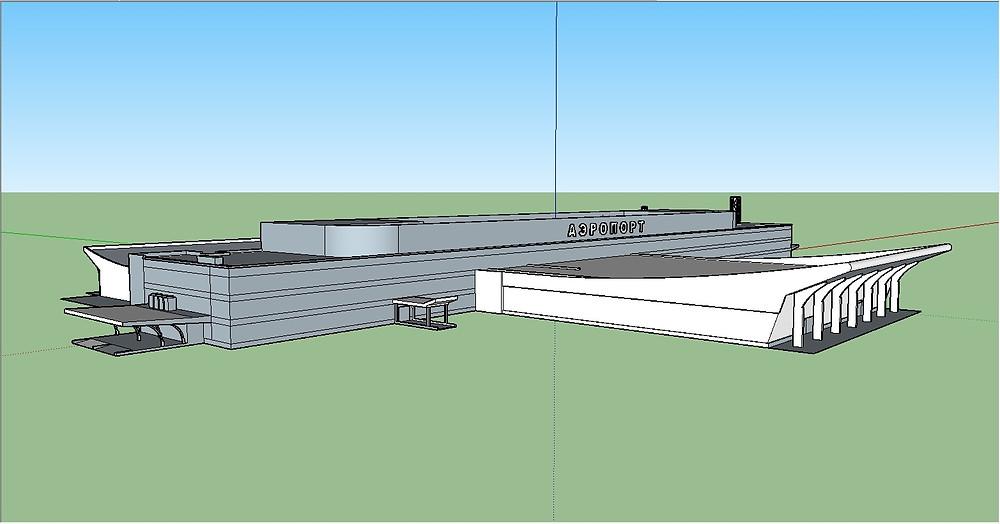 Модель здания аэропорта Минеральные воды