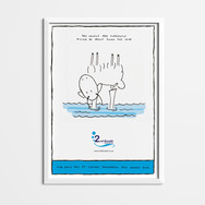 Scuba Illustrated Poster Design