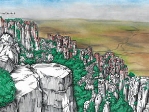 Valley of Desolation, Graaff-Reinet Drawing and Info