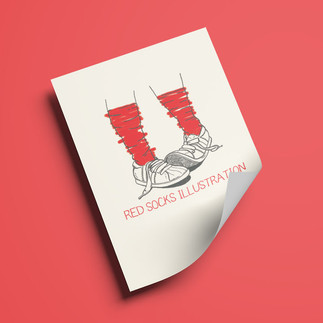 Red Socks illustration
