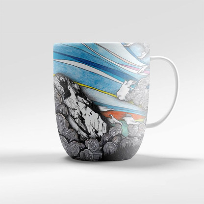 Mountain Illustration Mug