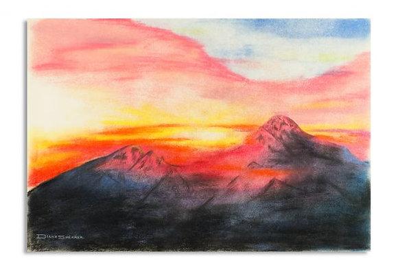 Mountain Sunset ORIGINAL