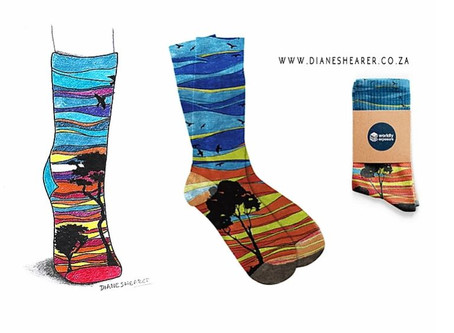 African Sunset Socks