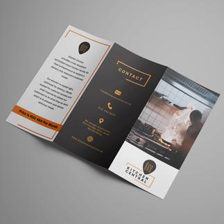 kitchen Central z-fold brochure design