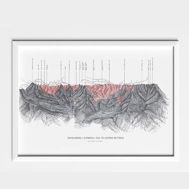 Drakensberg Illustration Poster
