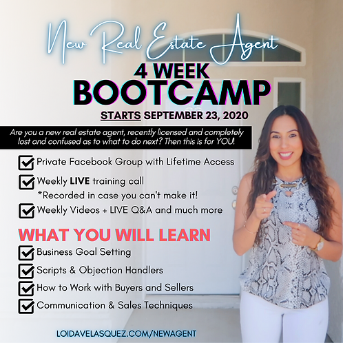New Real Estate Agent Bootcamp