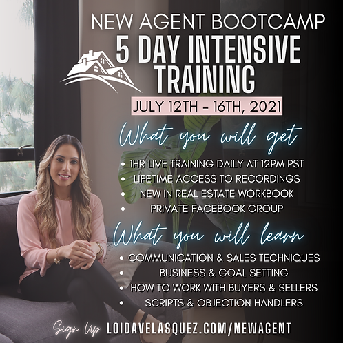 New Agent Bootcamp - 5 Day Intensive Training