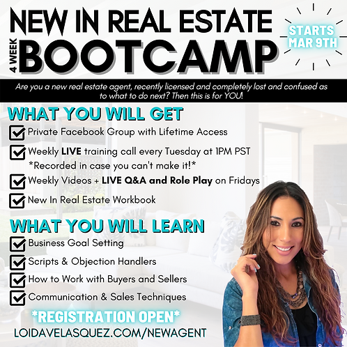 New In Real Estate Bootcamp