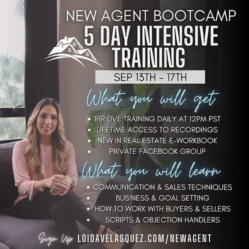 September New Agent Bootcamp - 5 Day Intensive Training