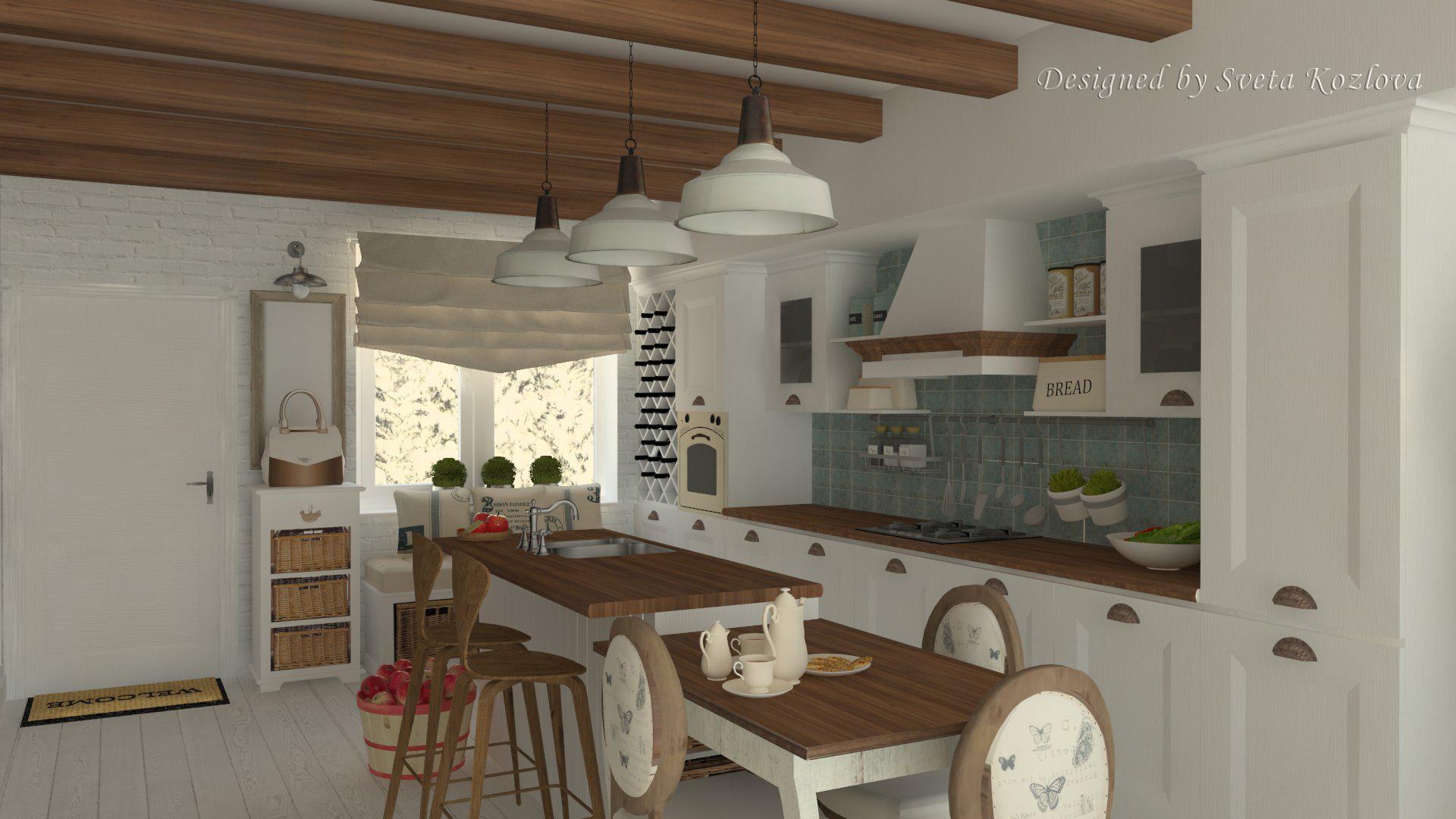 Кухня в стиле прованс