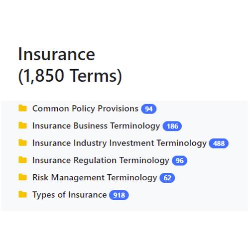 Insurance Taxonomy