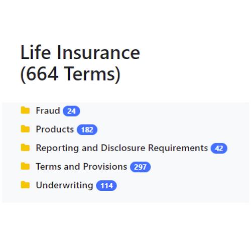 Life Insurance Taxonomy