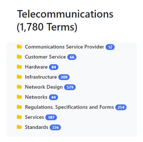 Telecommunications Taxonomy