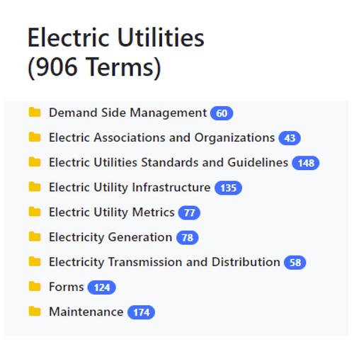 Electric Utilities Taxonomy