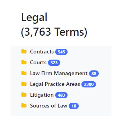 Legal Taxonomy