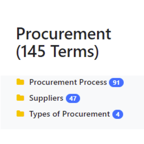 Procurement Taxonomy