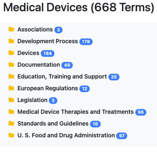 Medical Devices Taxonomy