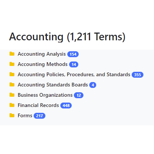 Accounting Taxonomy