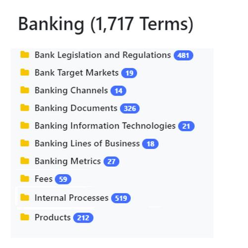 Banking Taxonomy